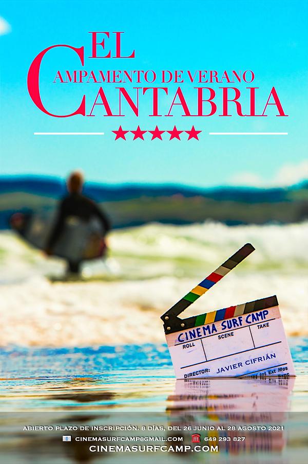 Cinema Surf Camp 2021, Campamento de Verano, juvenil, infantil, niños, cine, surf, Cantabria, 2021