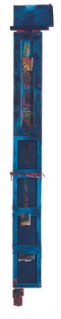 158x21cm, mixed media, 2008, Blue Blue.j