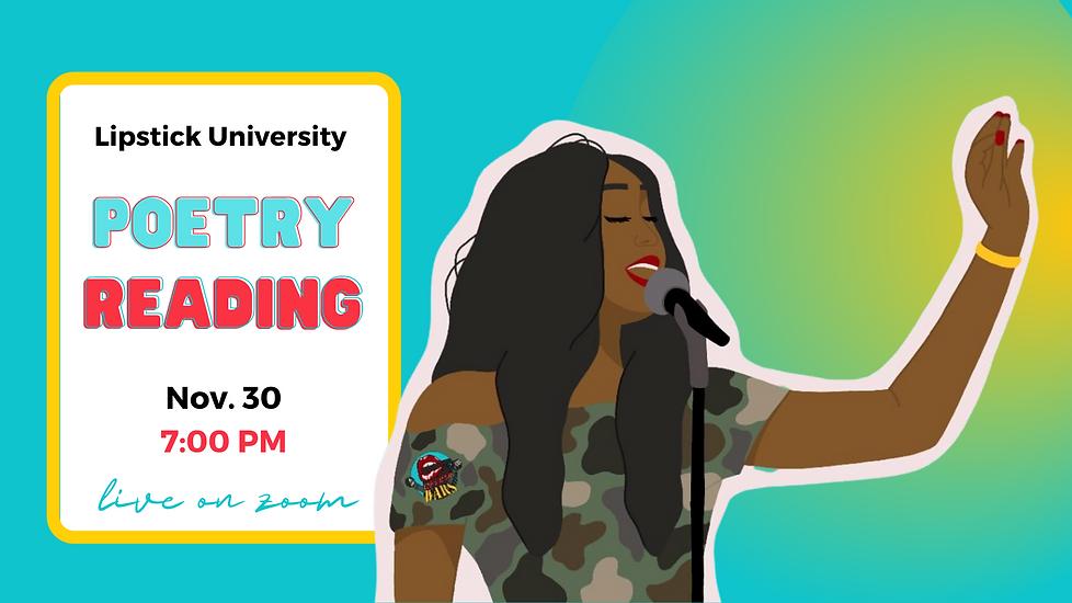 Lipstick University Poetry rdg-fb event.