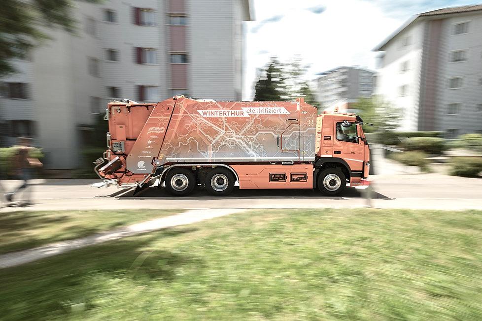 Laswagen Beschriftung Stadt Winterthur
