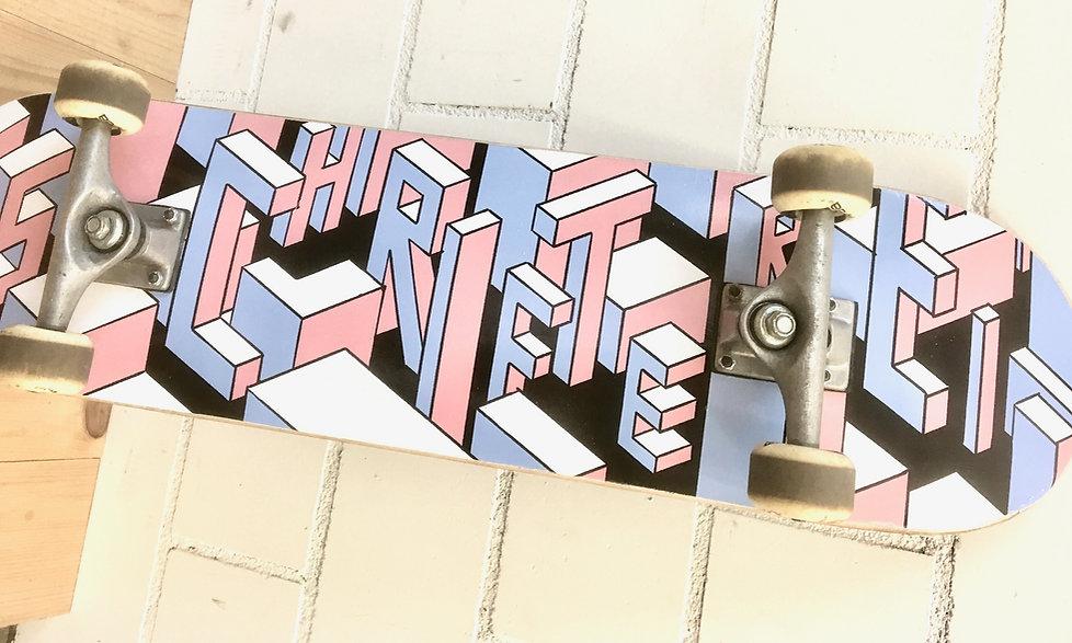 Skateboard Grafik Winterthur