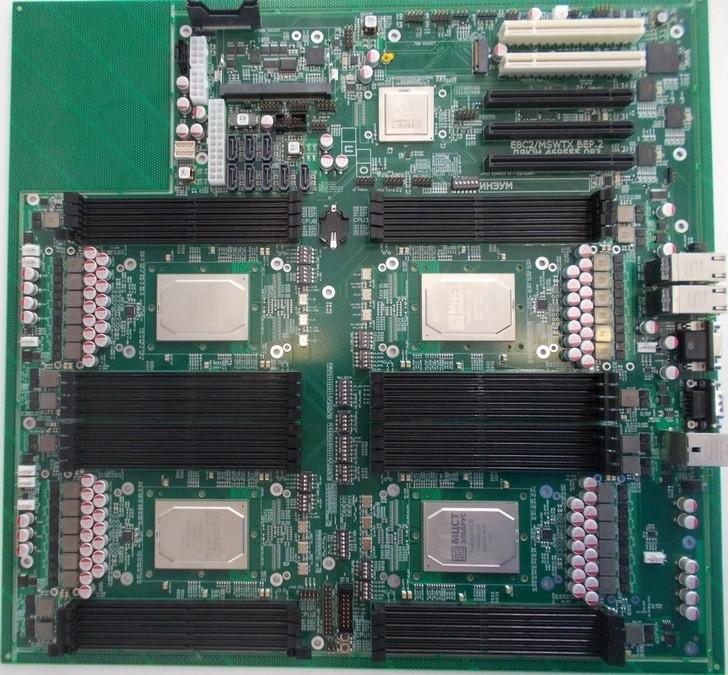 Появились первые фото серверных материнских плат на процессорах Эльбрус-8СВ