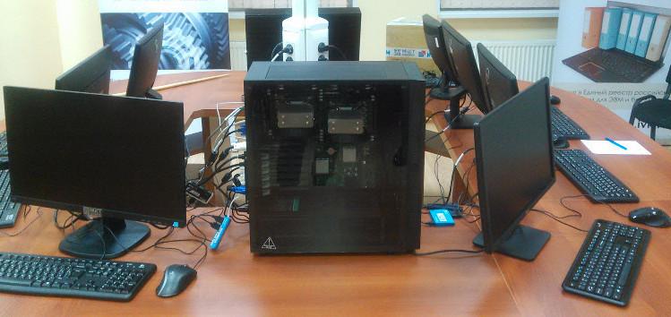 Начинается производство станций «Горыныч» с процессорами «Эльбрус» на 3−6 мониторов под свободной ОС