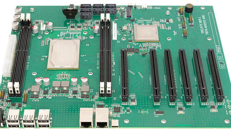 E8C-ATX с 6-ю PCI-E на базе!
