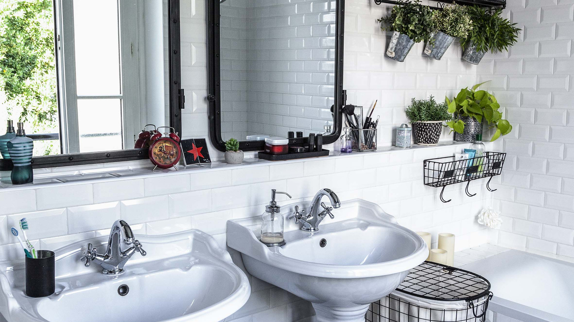 Une salle de bain Rétro