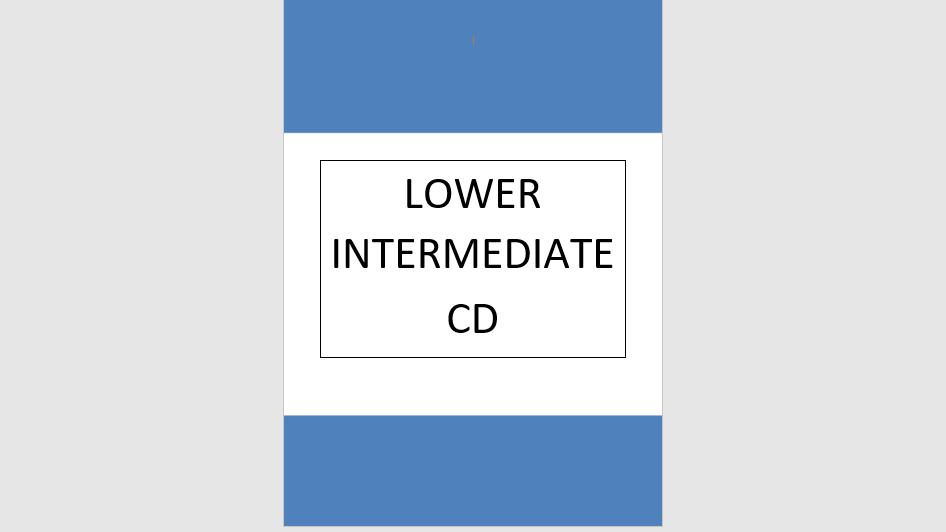 Lower Intermediate Syllabus Music