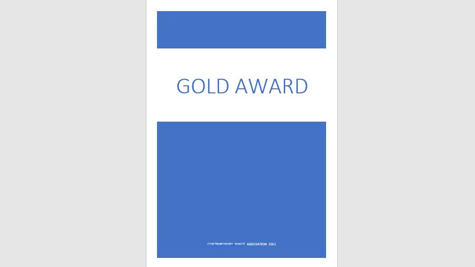 Gold Award Exam Specification