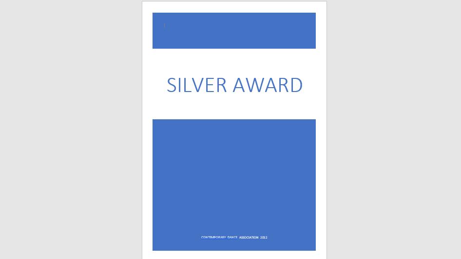 Silver Award Exam Specification