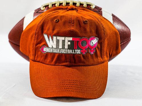 """WTF Too: Women Talk Football Too"" Texas Orange Adjustable Ball Cap"