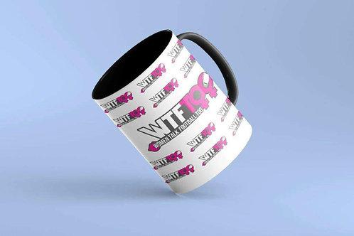"""WTF Too: Women Talk Football Too"" Multi Logo 11 oz.Ceramic Mug"