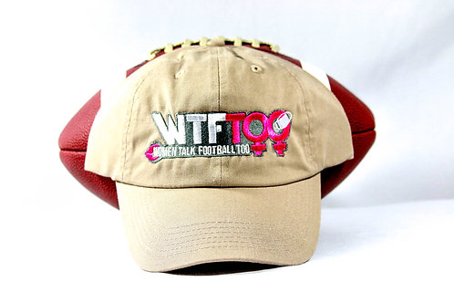 """WTF Too: Women Talk Football Too"" Khaki/Tan Adjustable Ball Cap"