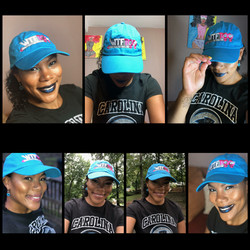 """WTF Too Neon """"Panthers"""" Blue Cap, NC"""