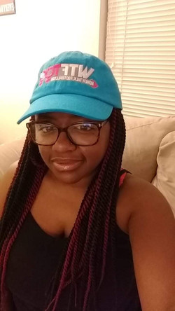 WTF Too Neon Blue Panthers Cap, NC
