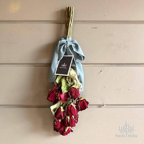 八ヶ岳の薔薇を贅沢に使ったスワッグ・Mサイズ【no.85】