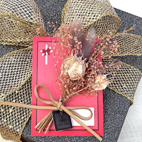 プレゼント用ミニスワッグ付きメッセージカード