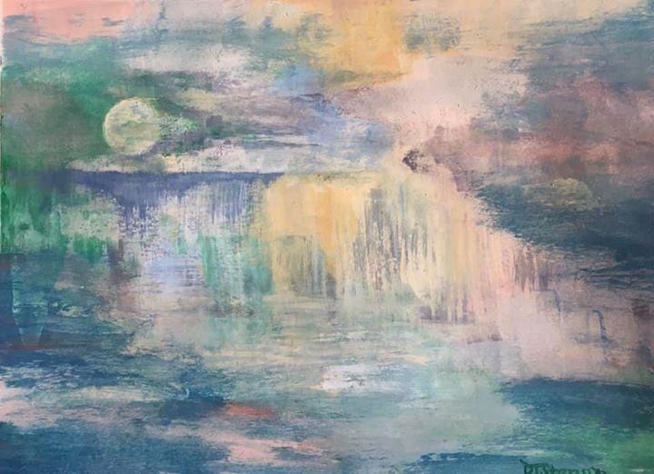 *SOLD* Moonlit Falls July 7, 2020