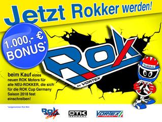 Die neue Aktion für die Rok Cup Germany Saison 2018