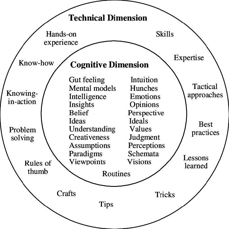 Technical vs cognitive dimensions of lea