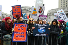 Divided over leadership, but united in goals, women march and rally in New York