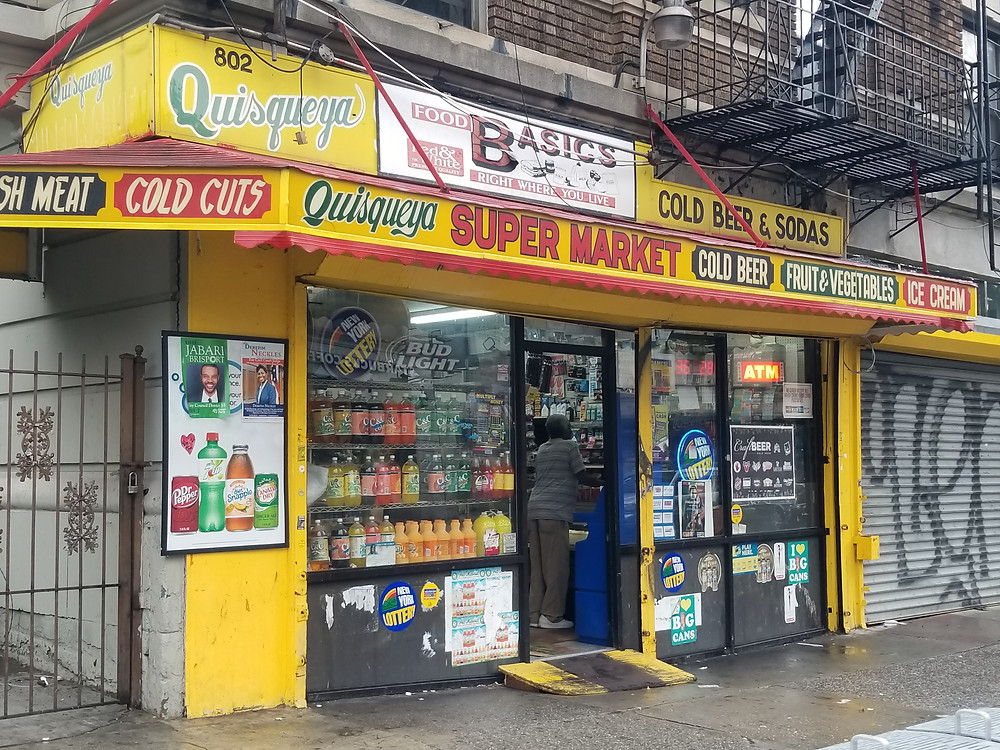 Quisqueya Grocery Store on Franklin Avenue in Crown Heights. Photo by KadiaTubman