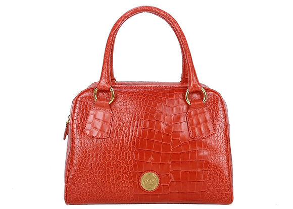 Croco Leather Large Satchel Bag (Red)A10204