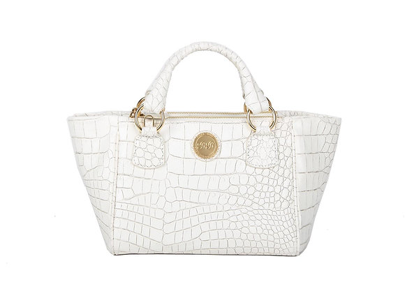 Mini Double zip Satchel (White) A10209