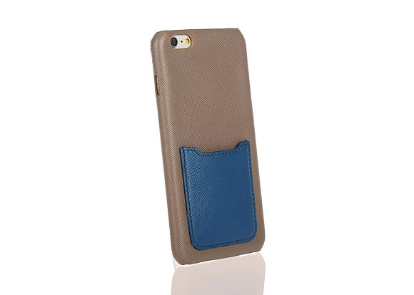 iPhone 6+ phone case w/ card slot A10406 (Grey+Bl)
