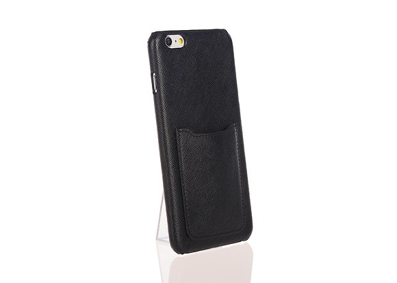 iPhone 6+ phone case w/ card slot A10406 (Black)