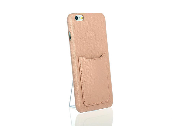 iPhone 6+ phone case w/ card slot A10406 (Lt Pink)