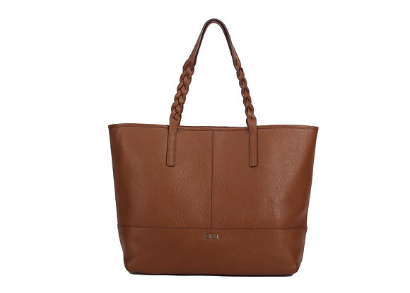 Woven Handle Tote A10422 (Brown)