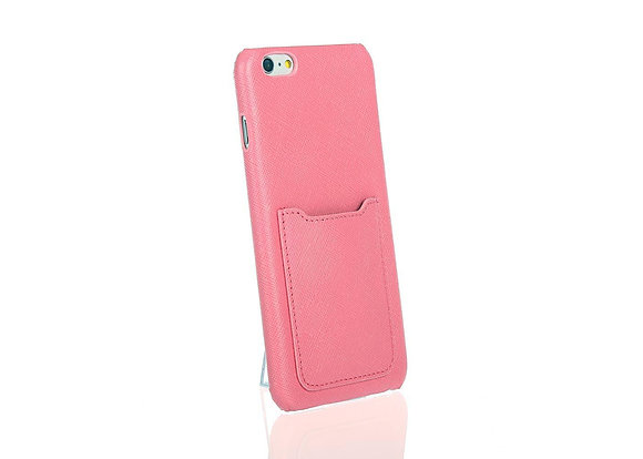 iPhone 6+ phone case w/ card slot A10406 (Pink)
