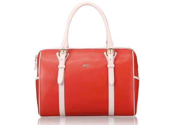 Boston Bag (Papaya with Light Pink trimmed) A10211