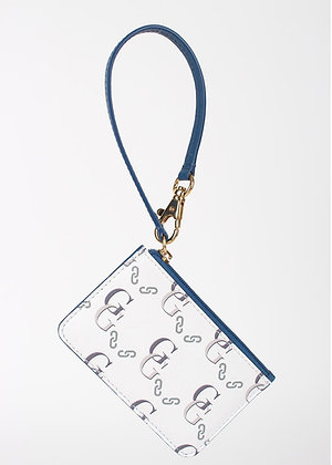 Signature Wristlet Card Case (Blue)  W6780