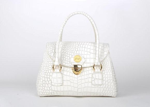 Top Flap Shoulder Bag (White) A10208