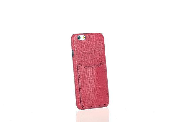 iPhone 6 smart phone case w/ slots A10405(DK Fush)