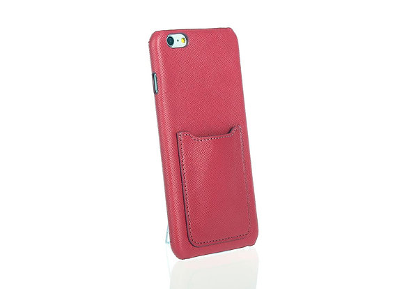 iPhone 6+ phone case w/ card slot A10406 (Dk Fush)