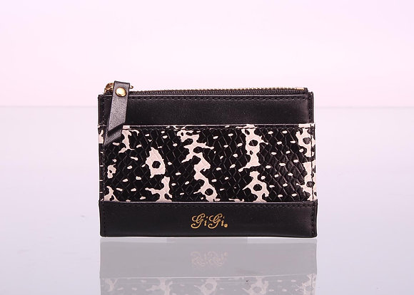 Coin Purse with Key holder (Black/White) A10598