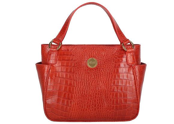 Shoulder Bag with Side Pockets (Red) A10207