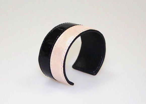Leather Cuff (Champagn, Black Patent) LB408-1