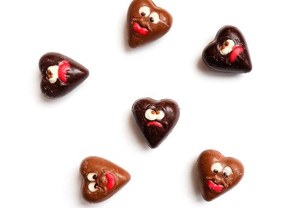 Širdelės formos šokoladukai