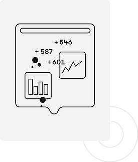 A stylized representation of sharing analytic insights