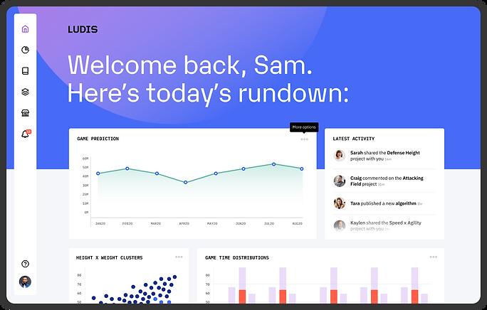 A screenshot of the Ludis platform Home page