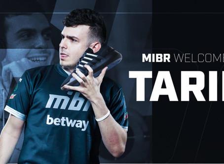 """A MIBR adquiriu Tarik """"tarik"""" Celik da Cloud9."""