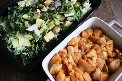 Kylling med ovnsbakte grønnsaker