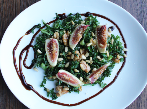 // Fiken vinterkyss// Lun salat med fiken & valnøtter