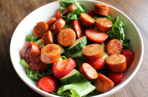 Jordbær & chorizo