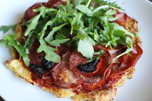 Italiensk blomkålpizza