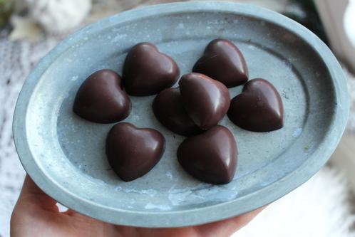 Hjemmelagede sjokoladehjerter