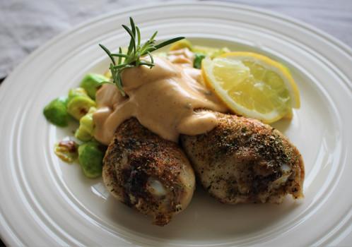 Kylling med spicy bearnaisesaus
