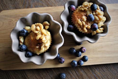 Proteinrike blåbærmuffins